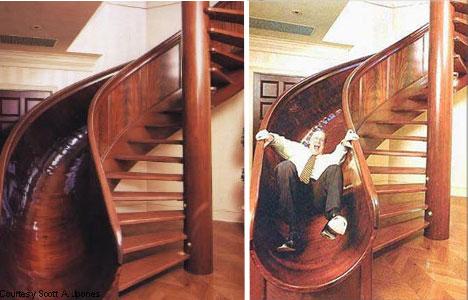 木质滑梯式楼梯设计方案