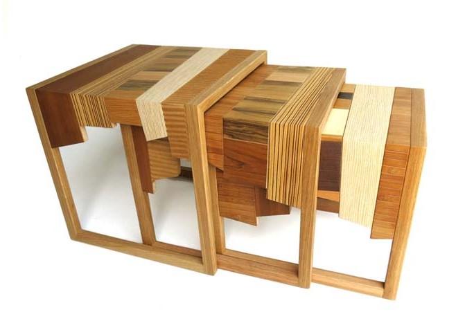 """废弃木料再利用 环保""""木融合""""家具"""